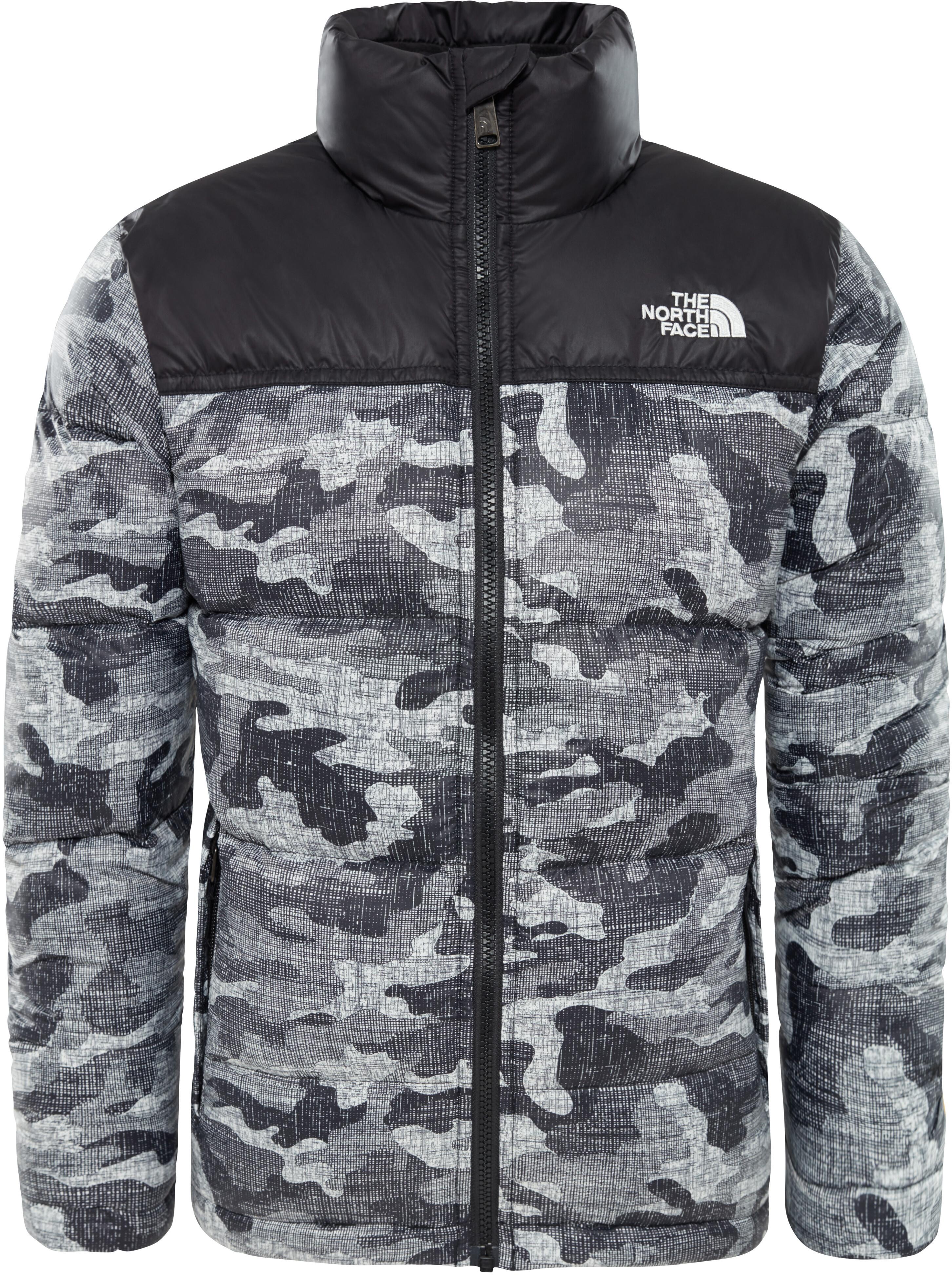 898236b89 The North Face Nuptse Down Jacket Boys tnf black textured camo print